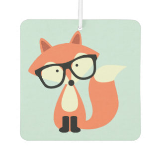 Hipster Red Fox Car Air Freshener