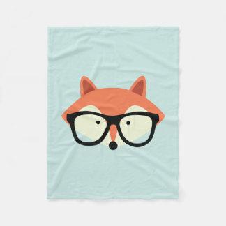 Hipster Red Fox Fleece Blanket