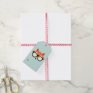 Hipster Red Fox Gift Tags