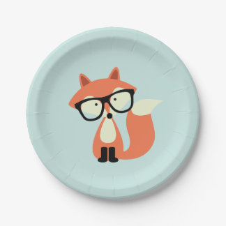 Hipster Red Fox Paper Plate  sc 1 st  Zazzle & Cute Cartoon Fox Plates | Zazzle.co.uk