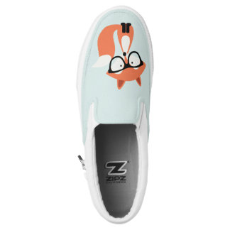 Hipster Red Fox Printed Shoes