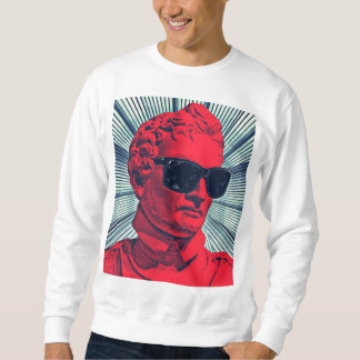 Hipster red statue sweatshirt