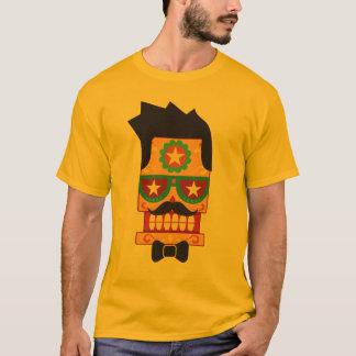 Hipster Robot Sugar Skull T-Shirt
