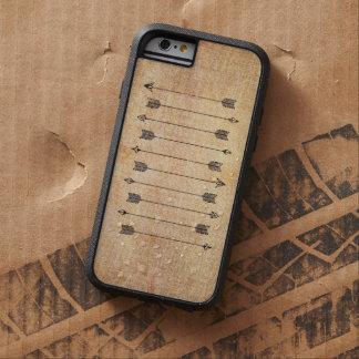 Hipster rustic linen arrows tough xtreme iPhone 6 case