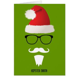 Hipster Santa Card