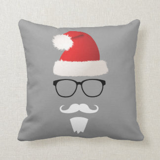 Hipster Santa Claus Cushion