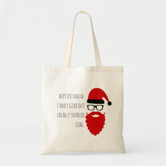 Hipster Santa: Locally Sourced Coal Tote Bag