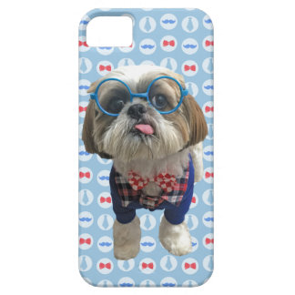 Hipster Shih Tzu Dog Barely There iPhone 5 Case
