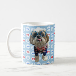 Hipster Shih Tzu Dog Mug