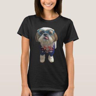 Hipster Shih Tzu Dog