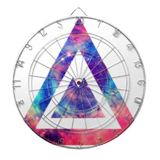 Hipster space triangle dartboard