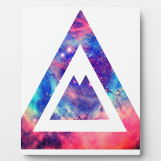 Hipster space triangle display plaques