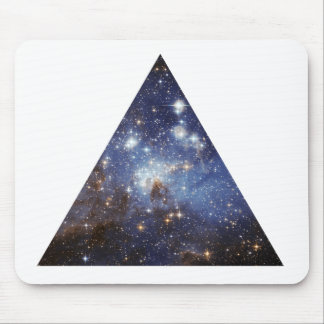 hipster space triangle mousepad