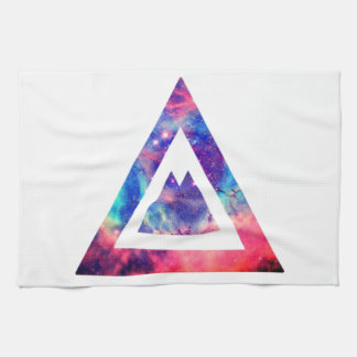 Hipster space triangle towel