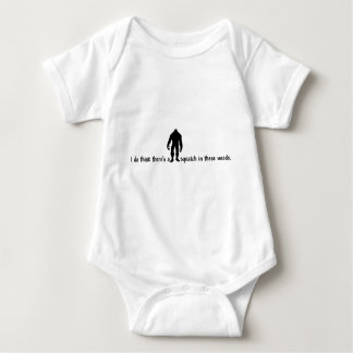 Hipster SQUATCH IN THESE WOODS - Finding Bigfoot Baby Bodysuit