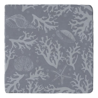 Hipster Style Coral Reef Trivet