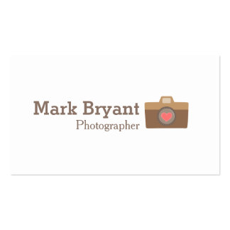 Hipster, Stylish, Camera, Wedding Photographer Pack Of Standard Business Cards