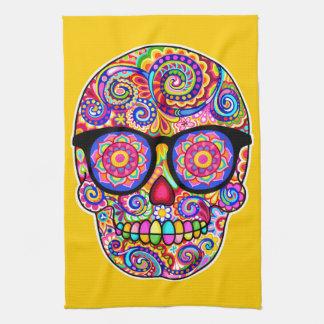 Hipster Sugar Skull Kitchen Towel