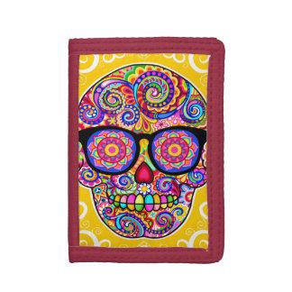 Hipster Sugar Skull Wallet - Day of the Dead Art!