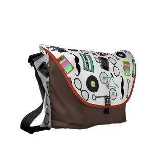 Hipster Theme Messenger Bag