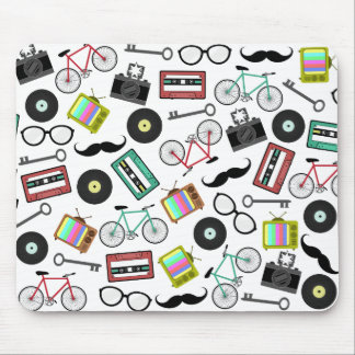 Hipster Themed Mousepad