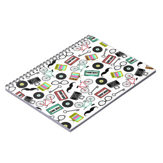 Hipster Themed Spiral Notebook