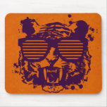 Hipster Tiger Mouse Pad