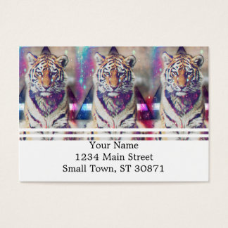 Hipster tiger - tiger art - triangle tiger - tiger business card