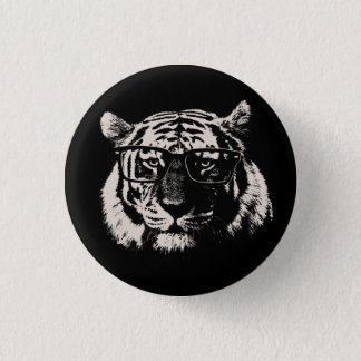 Hipster Tiger With Glasses 3 Cm Round Badge