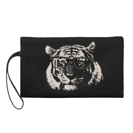 Hipster Tiger With Glasses Wristlets