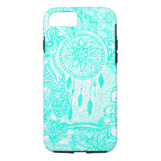 Hipster turquoise dreamcatcher floral doodles iPhone 8/7 case