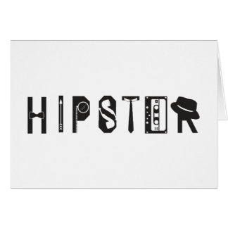 Hipster Typography Indie Urban Card