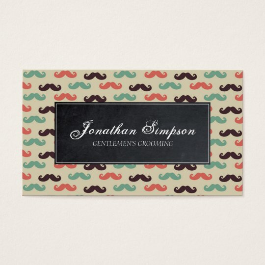 hipster vintage barber beard business card