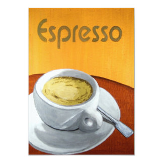 Hipster - Vintage Espresso Coffee Painting 11 Cm X 16 Cm Invitation Card