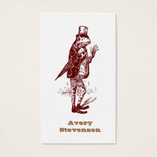 Hipster Vintage Gentleman Frog - Premium Cardstock Business Card
