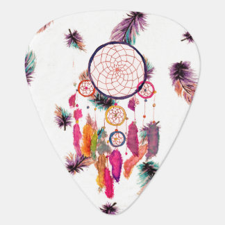 Hipster Watercolor Dreamcatcher Feathers Pattern Plectrum