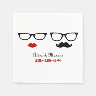 Hipster Wedding Paper Serviettes