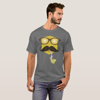 Hipster with Shiny Pipe Emoji Party Shirt