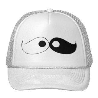Hipster Yin Yang Mustache  Hat