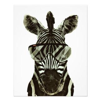 Hipster Zebra 11.5 Cm X 14 Cm Flyer