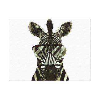 Hipster Zebra Canvas Print