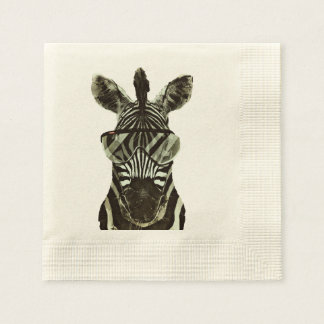 Hipster Zebra Disposable Napkin