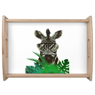 Hipster Zebra Style Animal Food Tray