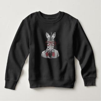 Hipster Zebra Sweatshirt