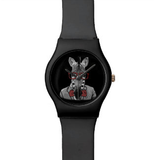 Hipster Zebra Watch