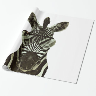 Hipster Zebra Wrapping Paper