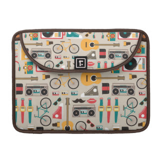 Hipsterrific Hipster Things Pattern (Cinereous) Sleeve For MacBook Pro
