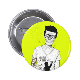 Hipsters not dead 6 cm round badge