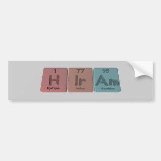 Hiram as Hydrogen Iridium Americium Bumper Sticker