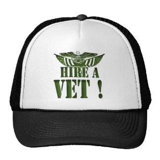 HIRE A VET GEAR MILITARY HEROES HELP THEM CAP